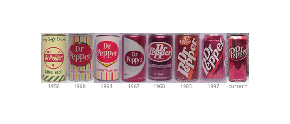 dr pepper design evolution