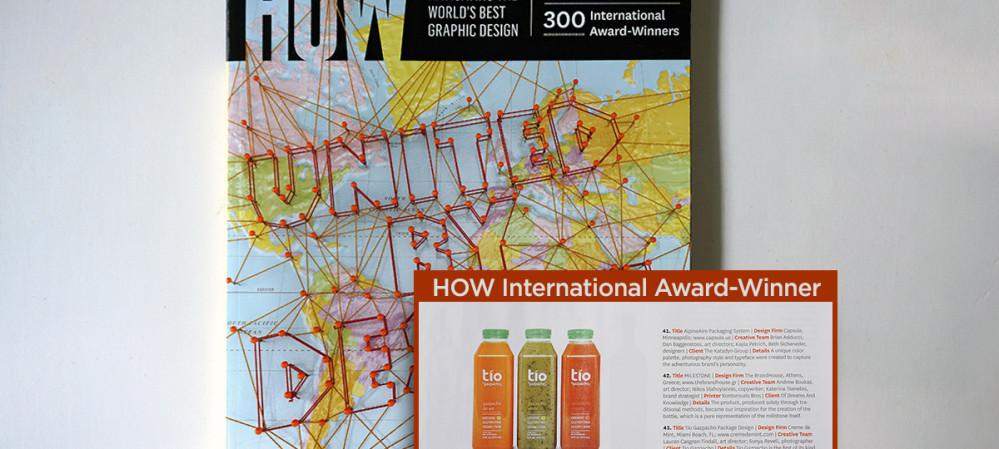 Creme de Mint Awarded HOW International Design Award