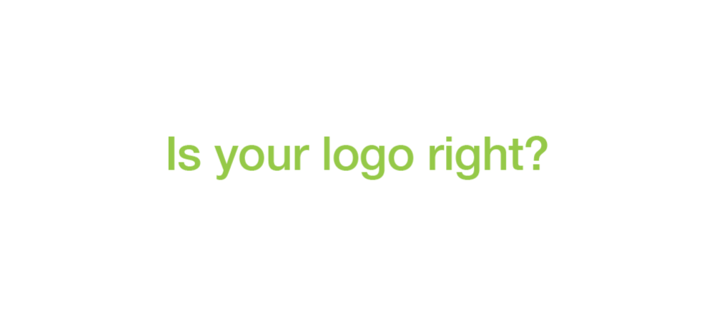 Is your logo right?