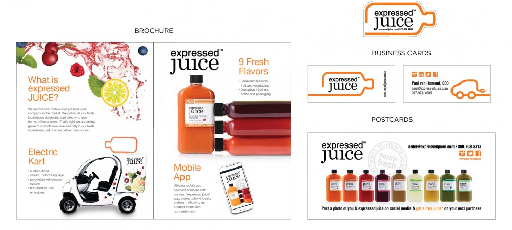 Expressed Juice Marketing Collateral