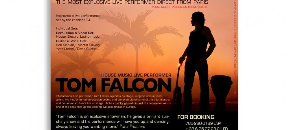 Tom Falcon Musician Postcard