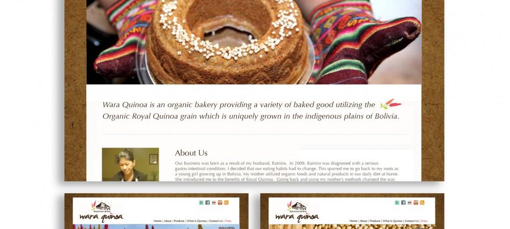 Wara Quinoa Website Design