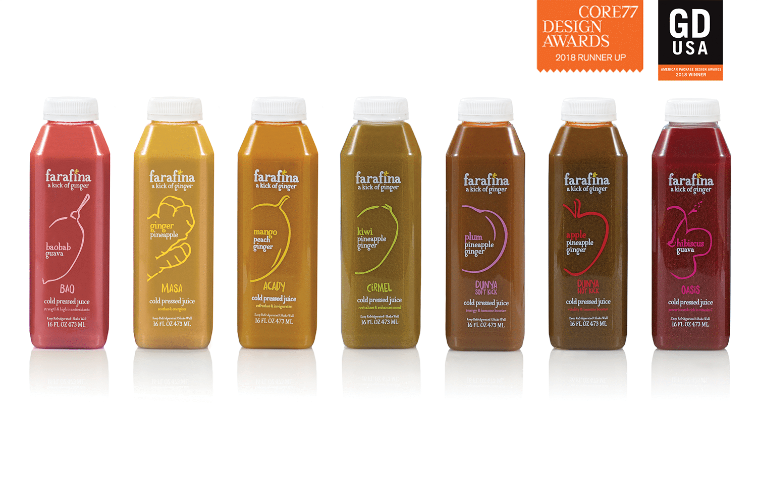 Core 77 Package Design Award for Farafina juices