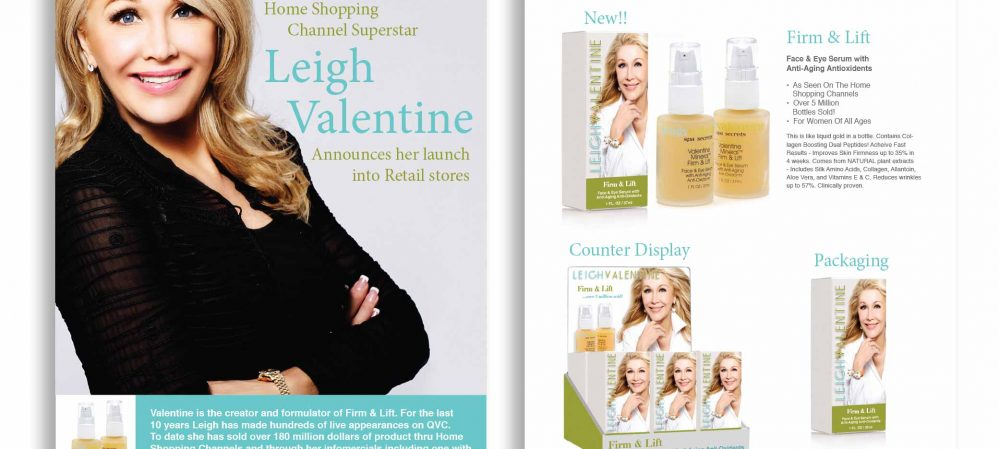 Leigh Valentine Skincare Brochure