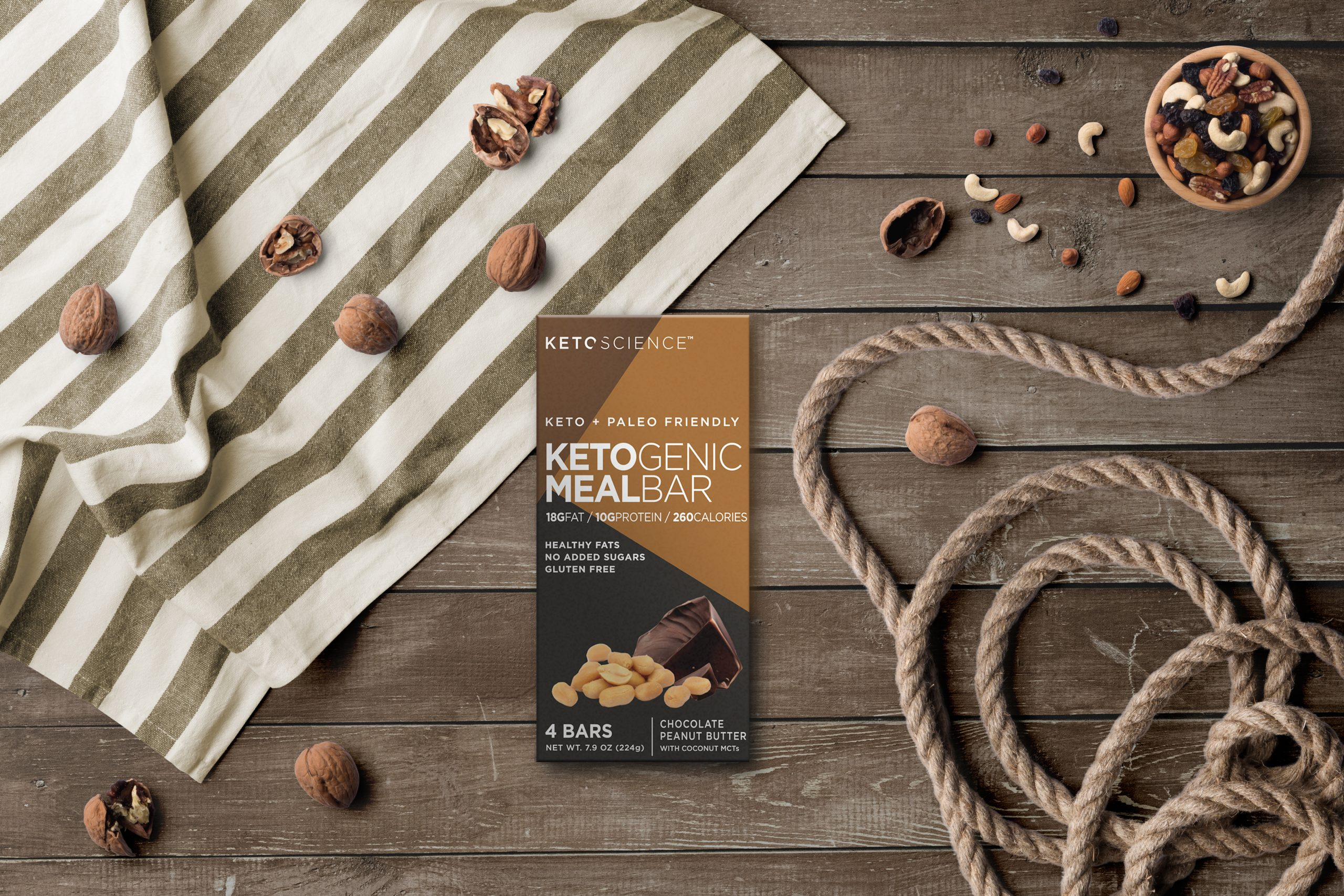 Keto Science ketogenic meal bar for the website.