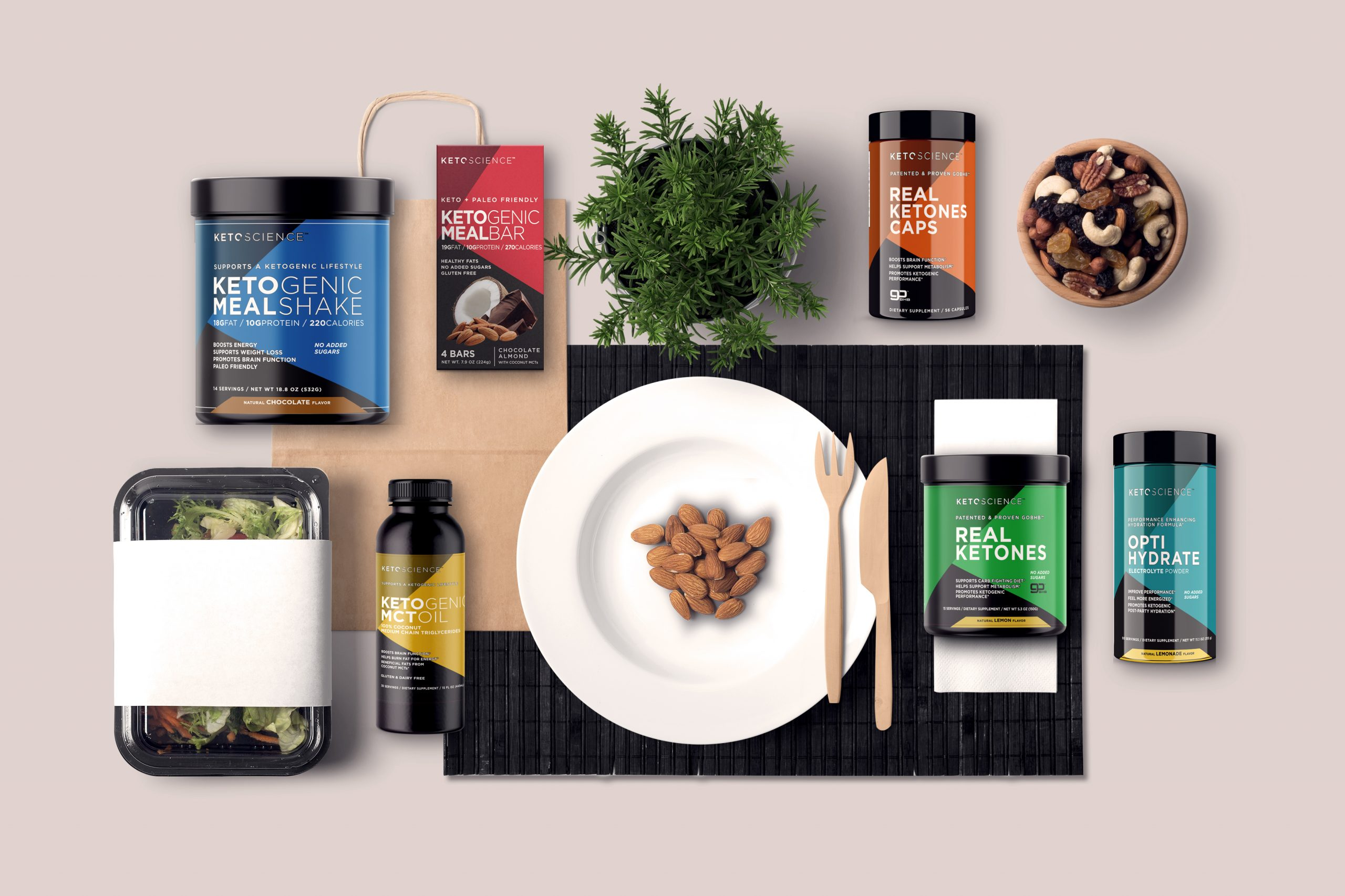 Keto Science product image for the website highlighting different product offerings.