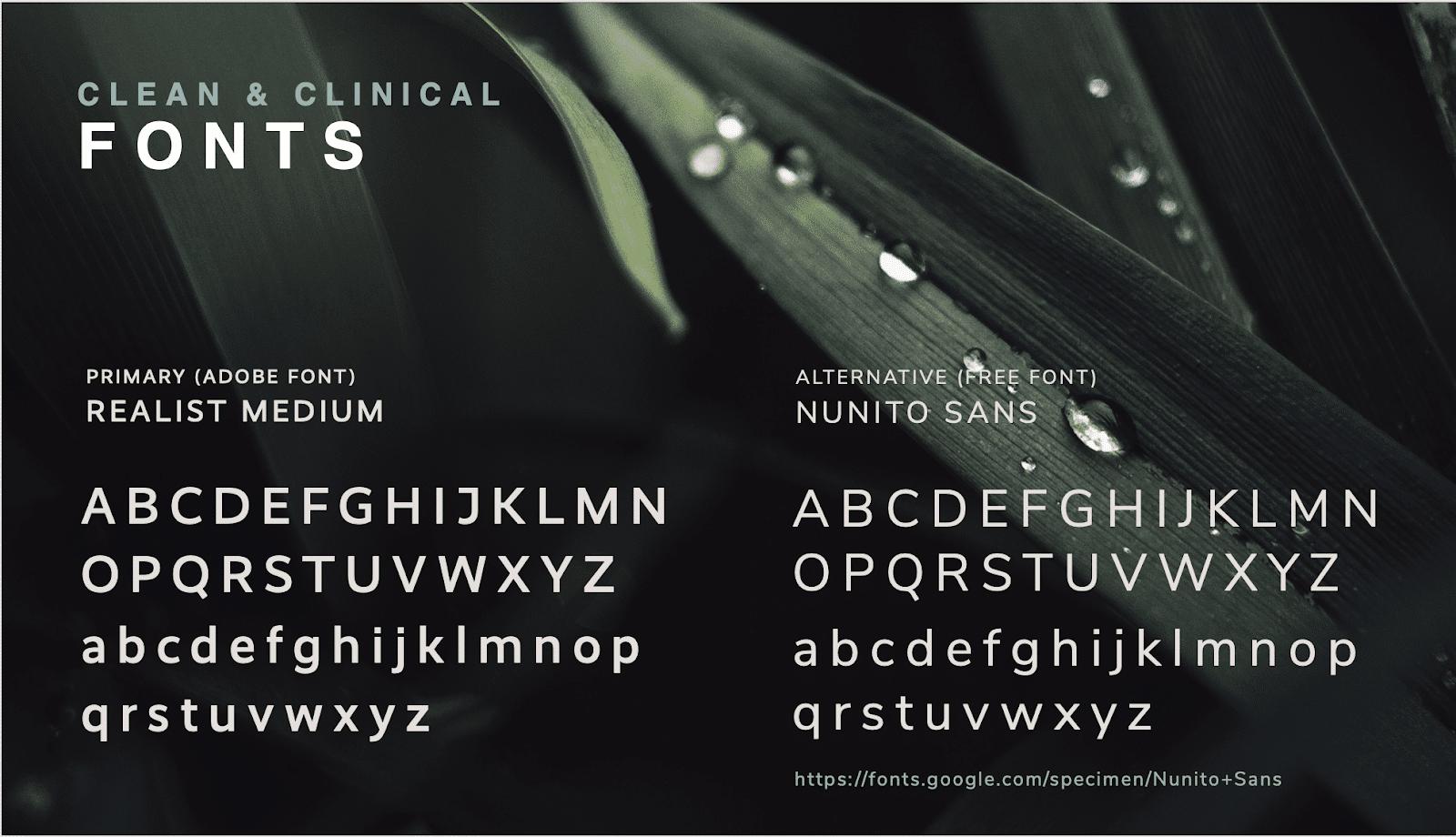 Alkaline Herb Shop brand presentation showcasing sleek and clean typography.