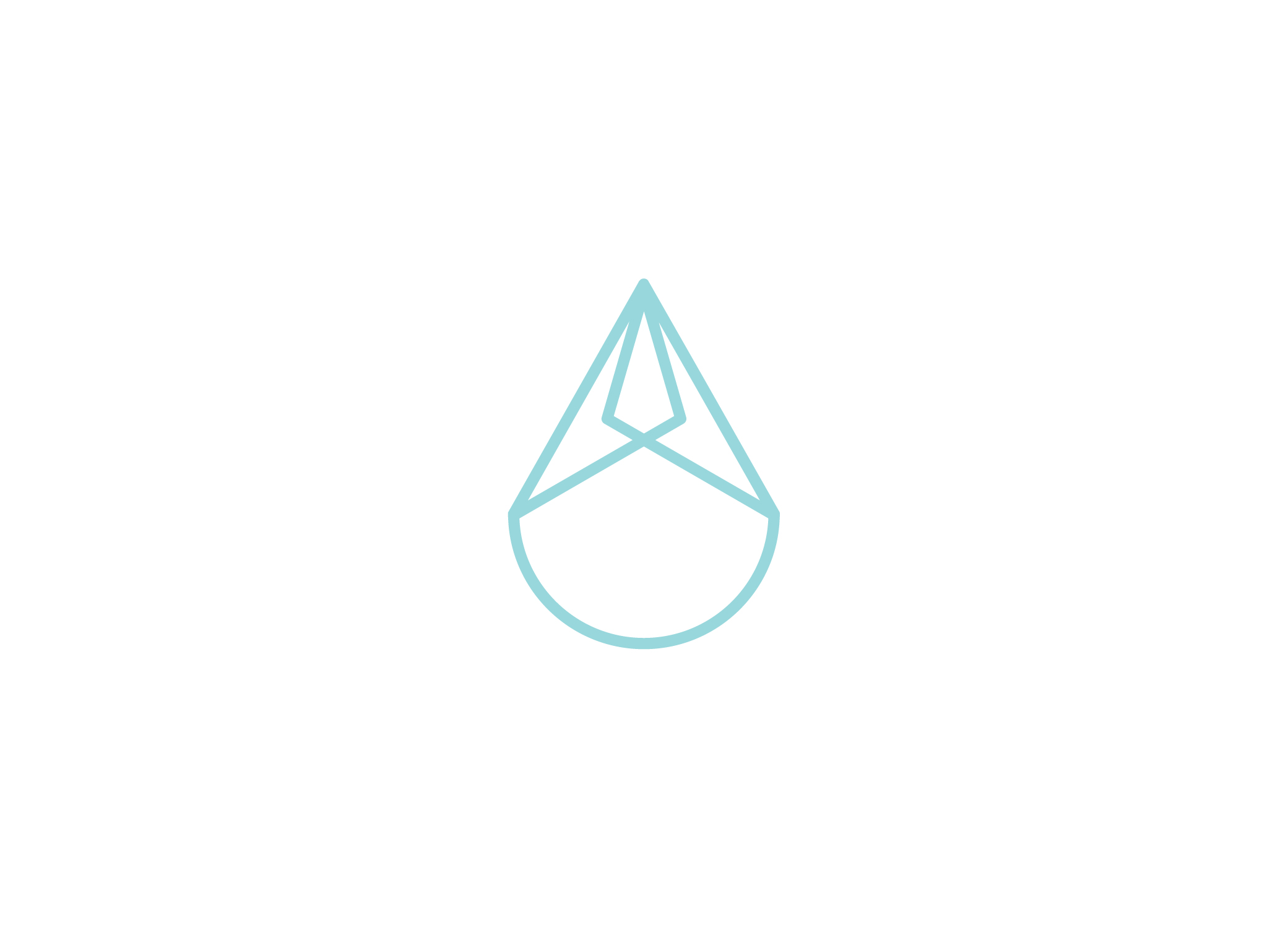Indra logo drop design of water droplet symbol in light blue.