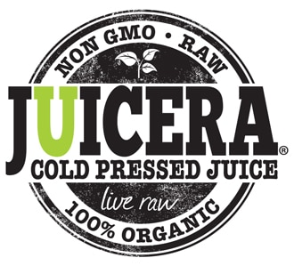"""Juicera logo before the redeisgn in all black font with the letter """"U"""" in lime green."""