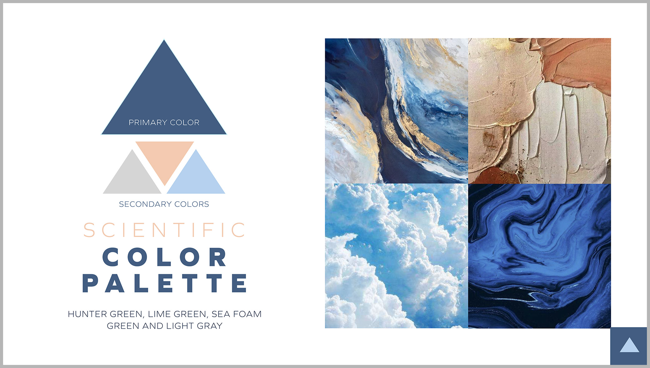 OptiCann cannabis design color palette showcasing primary and secondary color options and inspiration photos.